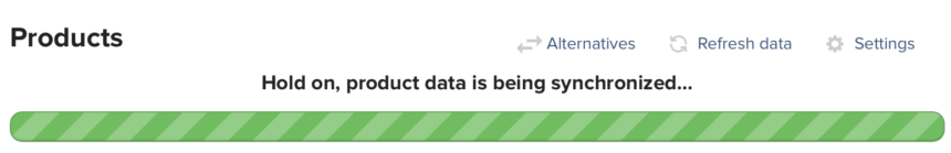 Syncing Product Data