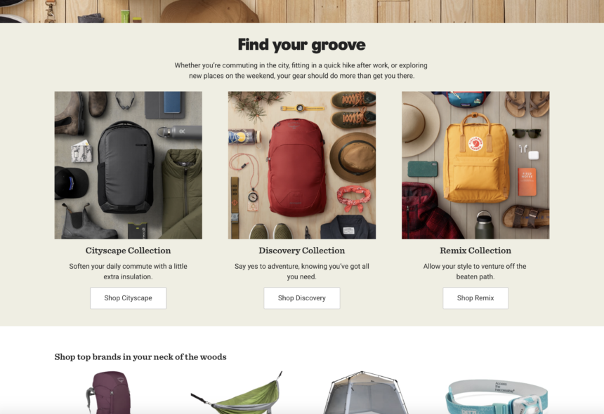 eCommerce merchandising through product collections